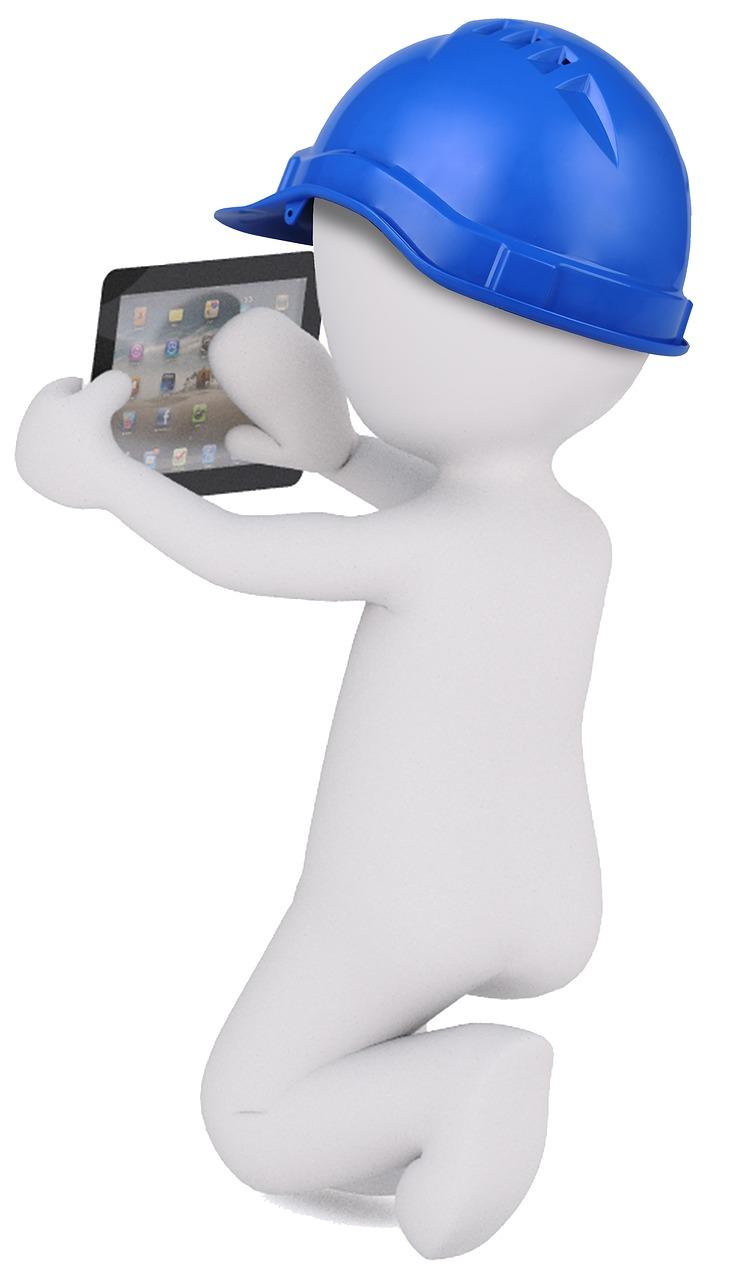 tablet, white male, 3d model